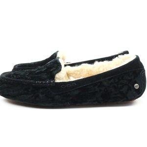 Ugg Shoes Ugg Ansley Crushed Velvet Sheepskin Black
